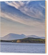 Blue Sky Over The Bay Wood Print