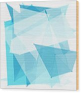 Blue Sky Polygon Pattern Wood Print