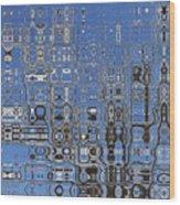 Blue Sky Quilt Wood Print