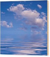 Blue Sky Reflections Wood Print