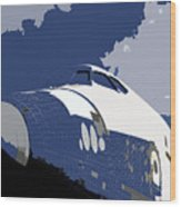 Blue Sky Shuttle Wood Print