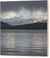 Blue Sky Through Dark Clouds Wood Print