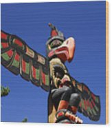 Blue Sky Totem Wood Print