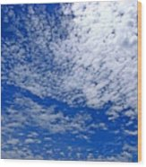 Blue Sky With Clouds Wood Print
