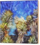Blue Sky Yucca Wood Print