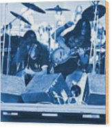 Blue Skynyrd Smoke Wood Print