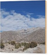 Blue Skys Over The Sandias Wood Print