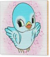 Blue Song Bird Wood Print