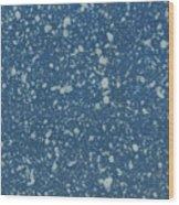 Blue Speckle Wood Print