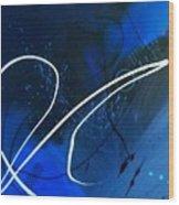 Blue Speed Wood Print