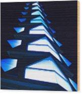 Blue Spire Wood Print