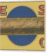 Blue Spot Cigars Wood Print