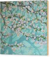 Blue Spring Wood Print