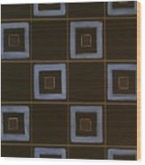 Blue Squares Wood Print