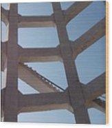 Blue Stairs Wood Print