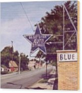 Blue Star Auto Wood Print