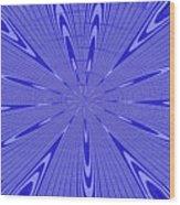 Blue Star Janca Abstract Wood Print