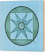 Blue Star Om Wood Print