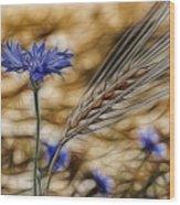 Blue Stars Wood Print