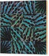 Blue Sticks Wood Print