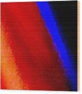 Blue Streak 1 Wood Print