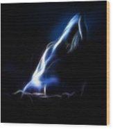 Blue Stretch 4023 Wood Print