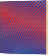 Blue Stripes No. 16 Wood Print