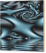 Blue Sun Wood Print
