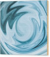 Blue Swirl Wood Print