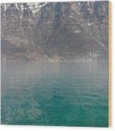 Blue Swiss Lagoon Wood Print