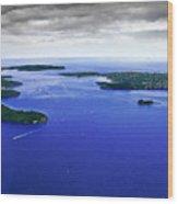 Blue Sydney Harbour Wood Print