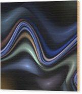 Blue Taffy Wood Print