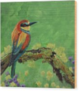 Blue Tailed Bee Eater Wood Print