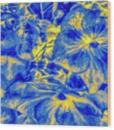 Blue Tango Floral Wood Print