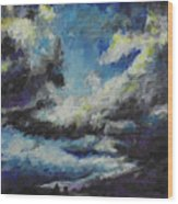 Blue Tempest Wood Print