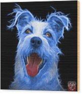 Blue Terrier Mix 2989 - Bb Wood Print