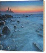 Blue Tide Wood Print