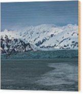 Blue Tidewater Glacier  Wood Print