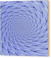 Blue Tip Whirlpool Wood Print