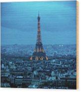 Blue Tower Wood Print