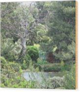 Blue Tree Wood Print