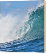 Blue Tube Wave Wood Print