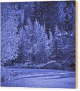 Blue Vail Wood Print