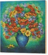 Blue Vase. Wood Print