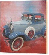 Blue Vintage Car Wood Print