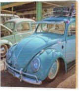 Blue Vw Wood Print