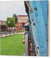 Blue Wagon 1 Wood Print
