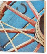 Blue Wagon 2 Wood Print