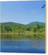 Blue Wall Lake Wood Print