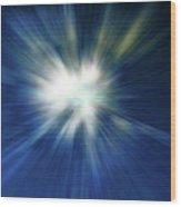 Blue Warp Wood Print